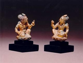 mobile version - Pair of Seated Bodhisattva Figures