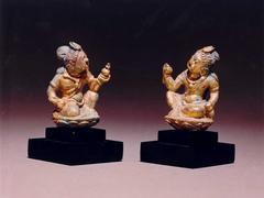 Pair of Seated Bodhisattva Figures