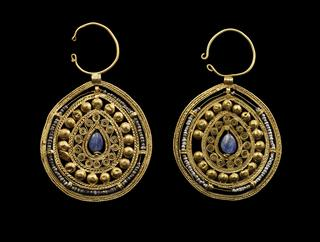 mobile version - Pair of Openwork Pear-Shaped Earrings