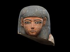 image Polychrome Head from a Shabti