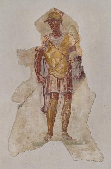 Fresco of Alexander in Military Uniform