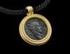 Pendant with brass dupondius of Severus Alexander