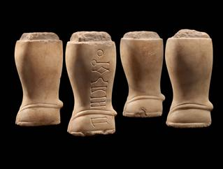 image Four Ibex Hoof Throne Legs with Inscription