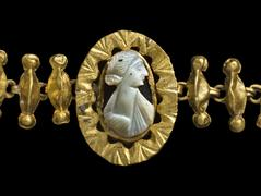 image Necklace with Cameo of a Noblewoman