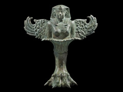 image Vessel support in the form of a Sphinx