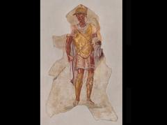 Fresco of Alexander in Military Uniform